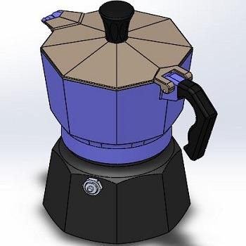 طراحی و مدلسازی قهوه جوش با سالیدورک