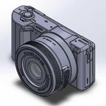 طراحی و مدلسازی دوربین عکاسی با سالیدورک