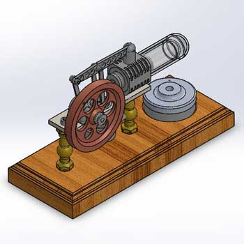 طراحی و مدلسازی موتور استرلینگ با سالیدورک