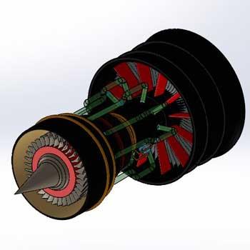 طراحی و مدلسازی توربین با سالیدورک