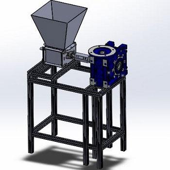 طراحی و مدلسازی دستگاه خردکن پلاستیک با سالیدورک