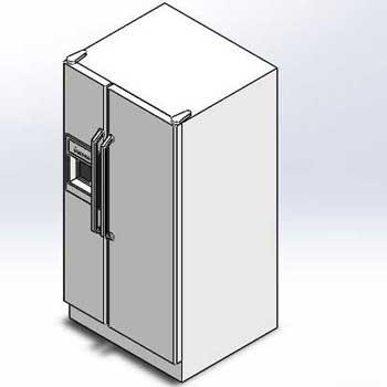طراحی و مدلسازی یخچال فریزر با سالیدورک