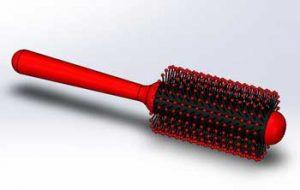 طراحی و مدلسازی شانه مو با سالیدورک