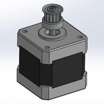 طراحی و مدلسازی استپر موتور با سالیدورک