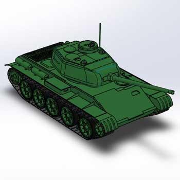 طراحی و مدلسازی تانک با سالیدورک