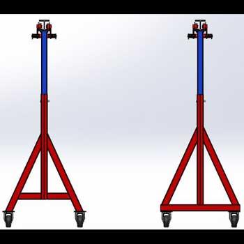 طراحی و مدلسازی جرثقیل قابل حمل با سالیدورک