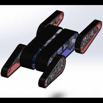 طراحی و مدلسازی ربات امدادگر با سالیدورک