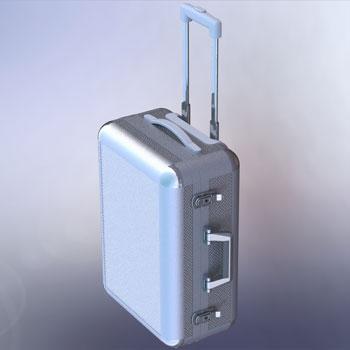 طراحی و مدلسازی چمدان با سالیدورک