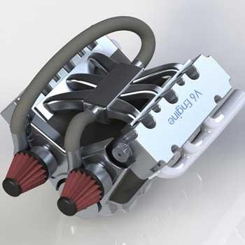 طراحی و مدلسازی موتور خودرو با سالیدورک
