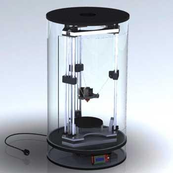 طراحی و مدلسازی پرینتر سه بعدی با سالیدورک