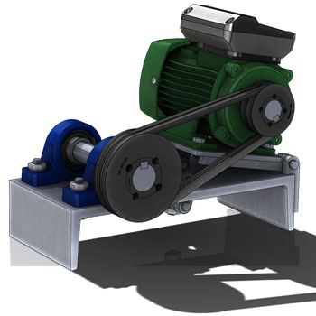 طراحی و مدلسازی چرخ تسمه با سالیدورک