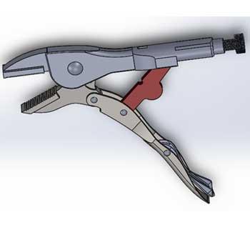 طراحی و مدلسازی انبر قفلی با سالیدورک