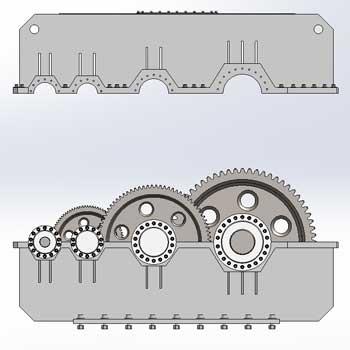 طراحی و مدلسازی جعبه دنده کاهنده با سالیدورک