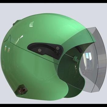 طراحی و مدلسازی کلاه کاسکت با سالیدورک