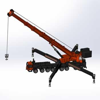 طراحی و مدلسازی truck crane با سالیدورک