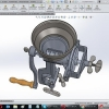 طراحی و مدلسازی آسیاب دستی با سالیدورک
