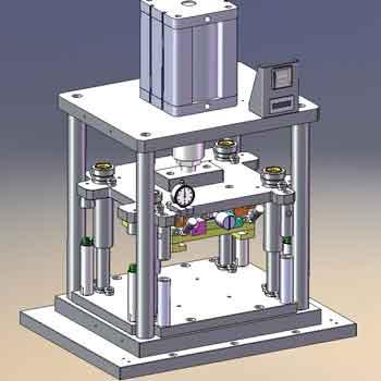 طراحی و مدلسازی پرس پنوماتیکی با سالیدورک