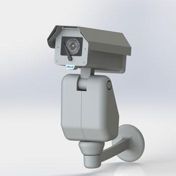 طراحی و مدلسازی دوربین مداربسته با سالیدورک