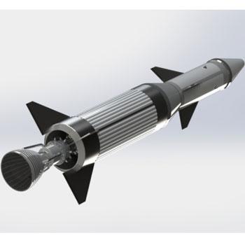 طراحی و مدلسازی موشک با سالیدورک