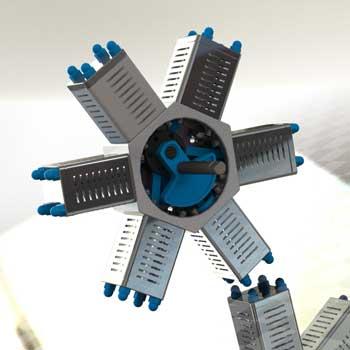 طراحی و مدلسازی موتور شعاعی با سالیدورک