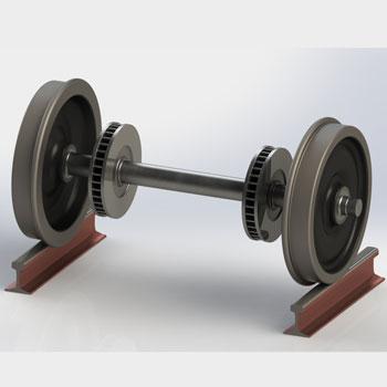 طراحی و مدلسازی چرخ قطار با سالیدورک