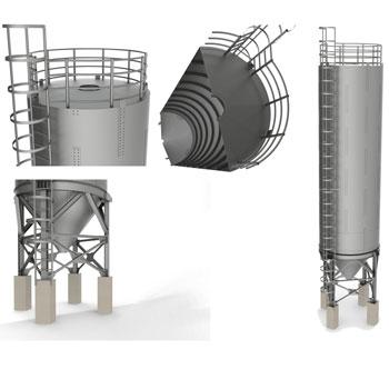 طراحی و مدلسازی سیلو (انبار غله) با سالیدورک
