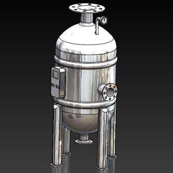 طراحی و مدلسازی دیگ بخار (بویلر) با سالیدورک