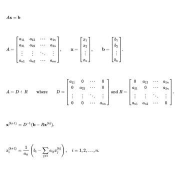 حل دستگاه معادله خطی به روش ژاکوبی در متلب