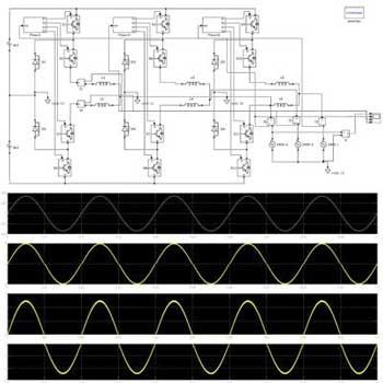 شبیه سازی اینورتر سه سطحی NPC با کنترل جریان هیسترزیس در متلب